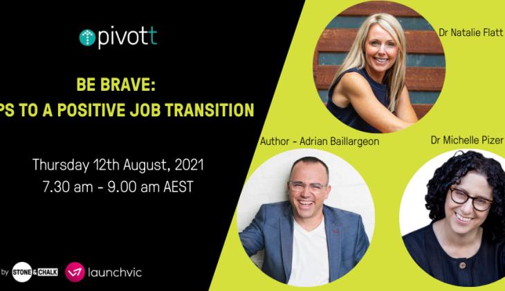 Leadership: Tips for a positive job transition webinar invitation